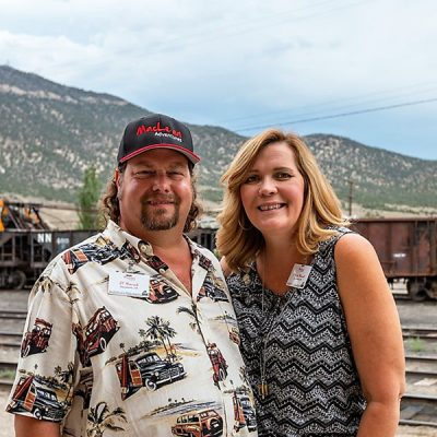 Couple Touring The Northern Nevada Railway Museum
