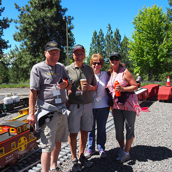 Group of people touring Train Mountain in Oregonn