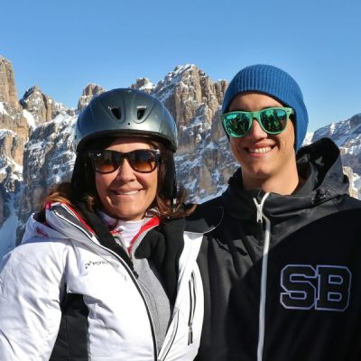 Mother-Son-creating-memories-in-the-Dolomites-with-MacLeanAdventures